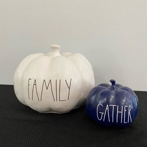 Rae Dunn Family Gather Pumpkin Bundle Halloween